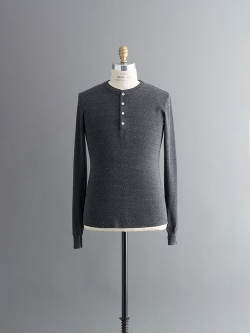 KARL-HEINZ LONG SLEEVE HENLEY Anthrazit-Mel