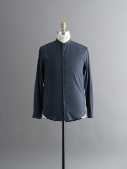 STEVEN ALAN | FORTE BAND COLLAR SHIRT Navy バンドカラーシャツの商品画像