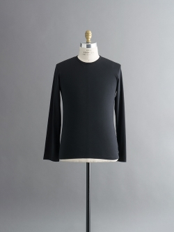 SUNSPEL | LONG-STAPLE COTTON LONG SLEEVE T-SHIRT Black Q82 ロングスリーブTシャツの商品画像