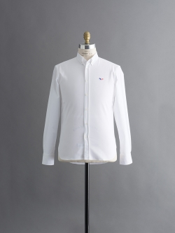 OXFORD TRICOLOR PATCH CLASSIC SHIRT White