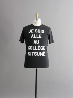 R NECK TEE SHIRT with print JE SUIS ALLE Black