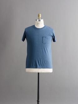 FilMelange | SUNNY Denim Blue Melange 半袖クルーネックTシャツの商品画像