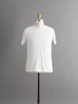 FilMelange | DIZZY White 半袖クルーネック胸ポケTシャツの商品画像