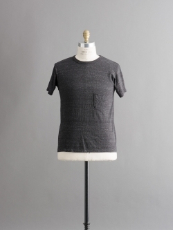 FilMelange | DIZZY Black Melange 半袖クルーネック胸ポケTシャツの商品画像