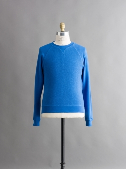 SUNSPEL | LOOPBACK COTTON CONTRAST RAGLAN SLEEVE SWEATSHIRT Cornflower Blue インサイドアウトスウェットシャツの商品画像