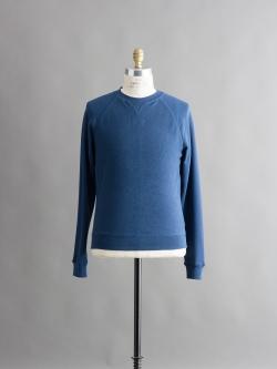 SUNSPEL | LOOPBACK COTTON CONTRAST RAGLAN SLEEVE SWEATSHIRT Blueberry インサイドアウトスウェットシャツの商品画像