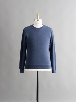 SUNSPEL | LOOPBACK COTTON SWEATSHIRT Navy Melange 裏毛スウェットシャツの商品画像