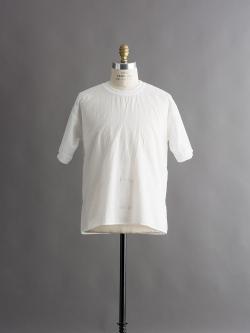 FilMelange | CORBETT2 S Ozone White シャツ生地クルーネックTシャツの商品画像