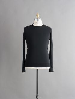 JOHN SMEDLEY | LINACRE Black コットンクルーネックニットの商品画像