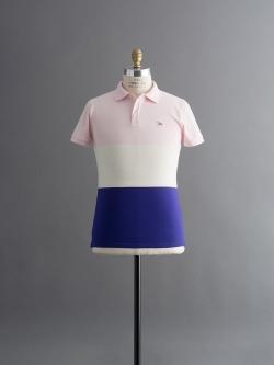 MAISON KITSUNE | POLO TRICOLOR Cobart Stripe パネルボーダーポロシャツの商品画像