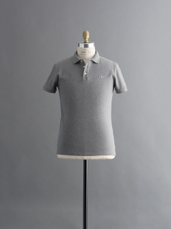 POLO WITH TRICOLOR FOX PATCH Grey