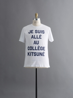 R NECK TEE SHIRT PRINT JE SUIS ALLE White