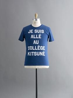 MAISON KITSUNE | R NECK TEE SHIRT PRINT JE SUIS ALLE Navy 半袖プリントTシャツの商品画像