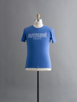 MAISON KITSUNE   KISS TSUNE TEE Blue 半袖プリントTシャツの商品画像