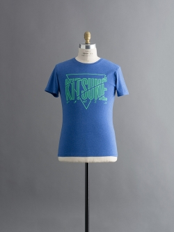 MAISON KITSUNE | CRACKED-TEE Blue 半袖プリントTシャツの商品画像