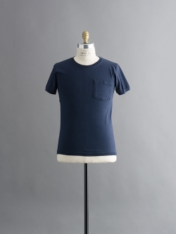 GOODWEAR | 7.2OZ S/S CREW-NECK TEE WITH RIB Navy 半袖リブTシャツの商品画像