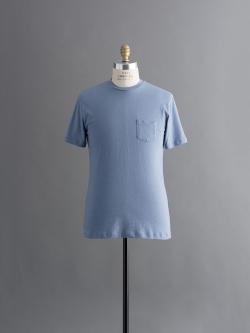 SUNSPEL | SLUB COTTON RELAXED FIT T-SHIRT Haze 半袖クルーネック胸ポケット付きTシャツの商品画像