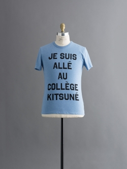 R NECK TEE SHIRT with print JE SUIS ALLE Blue Malange