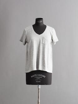 FilMelange | LAURA  Old Melange ニューリンダ天竺VネックTシャツ ローラの商品画像