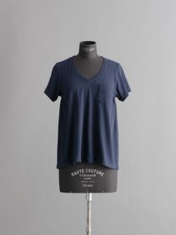 FilMelange | LAURA  Deep Navy ニューリンダ天竺VネックTシャツ ローラの商品画像