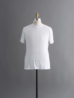 SUNSPEL | SLUB COTTON RELAXED FIT T-SHIRT White 半袖クルーネック胸ポケット付きTシャツの商品画像