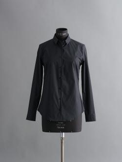 SUNSPEL | COTTON POPLIN SHIRT Black ブロードコットン長袖シャツ