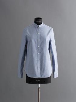 MAISON KITSUNE | OXFORD EMBROIDERY CLASSIC SHIRT Blue オックスフォードクラシックシャツの商品画像