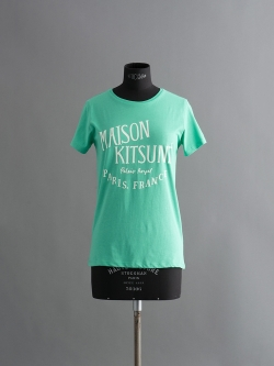 MAISON KITSUNE | R-NECK TEE SHIRT PRINT PALAIS ROYAL Green 半袖プリントTシャツの商品画像