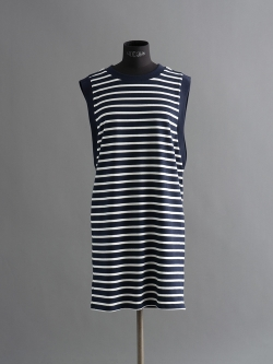 PETIT BATEAU | ROBE SM STRIPED DRESS Navy/White ノースリーブボーダーワンピースの商品画像