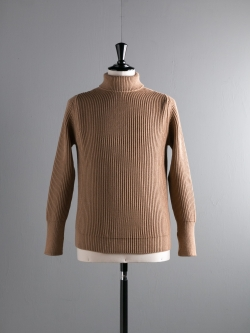 ANDERSEN-ANDERSEN | THE NAVY-TURTLENECK Camel 5Gタートルネックニットの商品画像