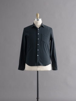 STEVEN ALAN | REVERSE SEAM SHIRT Black Navy Multi リバースシームネルシャツの商品画像