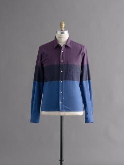 SIDIAN, ERSATZ & VANES | BLOCK COLOUR SHIRT Purple Multi ブロックカラーネルシャツの商品画像