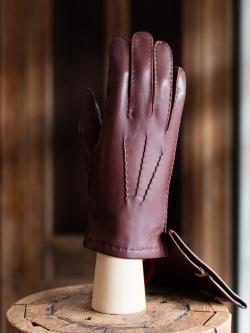 DENTS | CHELSEA English Tan ハンドソーンヘアシープグローブ カシミアライニングの商品画像