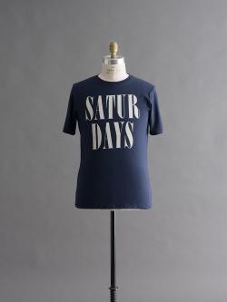 Saturdays NYC | HERB STACKED T-SHIRTS Navy 半袖プリントTシャツの商品画像