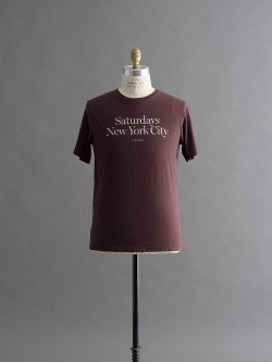 Saturdays NYC | MILLER STANDARD T-SHIRTS Oxblood 半袖プリントTシャツの商品画像