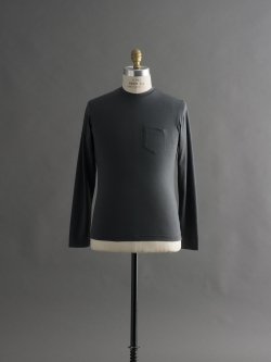 SUNSPEL | COTTON LONG SLEEVE POCKET T-SHIRT Lead ロングスリーブTシャツの商品画像