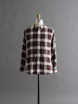 GITMAN BROTHERS | PLAID LONG SLEEVE SHIRT Burgundy Multi ツイルチェックシャツの商品画像