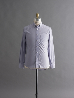GITMAN BROTHERS | BUTTON-DOWN WOVEN SHIRT Blue ブロードストライプシャツの商品画像