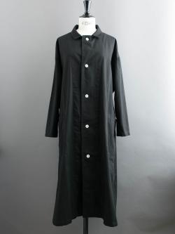 YARMO | LAB COAT BRITISH COTTON TWILL Black コットンオーバーサイズコートの商品画像
