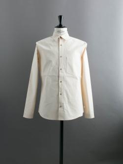 FRANK LEDER | VINTAGE BEDSHEET PLAIN SHIRT Natural ベッドリネンプレーンシャツの商品画像