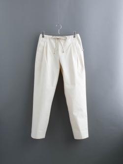 FRANK LEDER | VINTAGE BEDSHEET DROW STRING PANT Natural ベッドリネンドローストリングパンツの商品画像