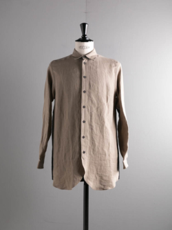 FRANK LEDER | BYCOLOR LINEN SHIRT Black/Brown バイカラーリネンシャツ
