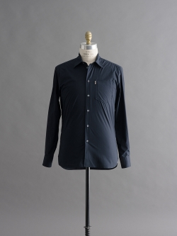 MAISON KITSUNE | POPLIN JAGG SHIRT Dark Navy コットン長袖ポプリンシャツの商品画像