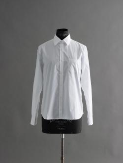 SUNSPEL | LONG SLEEVE COTTON SHIRT White コットンロングスリーブシャツの商品画像