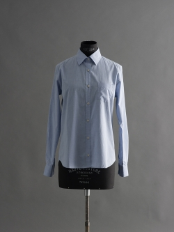SUNSPEL | LONG SLEEVE COTTON SHIRT Light Indigo コットンロングスリーブシャツの商品画像