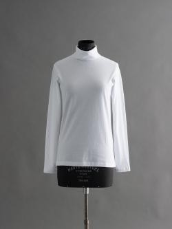 SUNSPEL | COTTON ROLL NECK White コットンタートルネックカットソーの商品画像