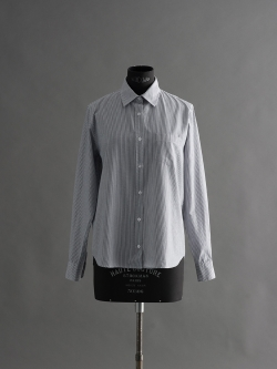 SUNSPEL | COTTON BENGAL STRIPE SHIRT Navy/White コットンロングスリーブストライプシャツ