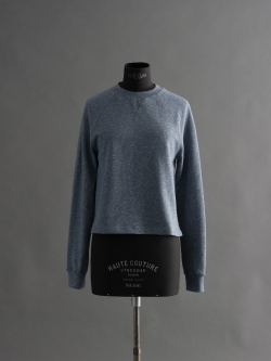 SUNSPEL | COTTON LOOPBACK CROPPED SWEATSHIRT Masonry Mouline 裏毛ショート丈スウェットシャツの商品画像