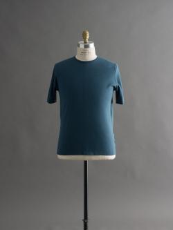 JOHN SMEDLEY | MONYASH Brando Blue コットン半袖クルーネックニットの商品画像
