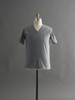 GICIPI | 1705P Grigio Melange マーセライズコットンVネックTシャツの商品画像